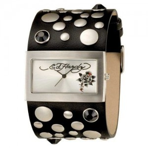 Ed-Hardy-Womens-Love-Child-Black-Stainless-Steel-316L-Watch