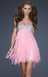 la femme pink homecoming dress