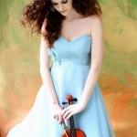 a-line empire waist chiffon dress for bridesmaid - tea length sweetheart hand made flowers ruffles-f69948