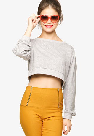 Miss-Chase-Oversized-Grey-Crop
