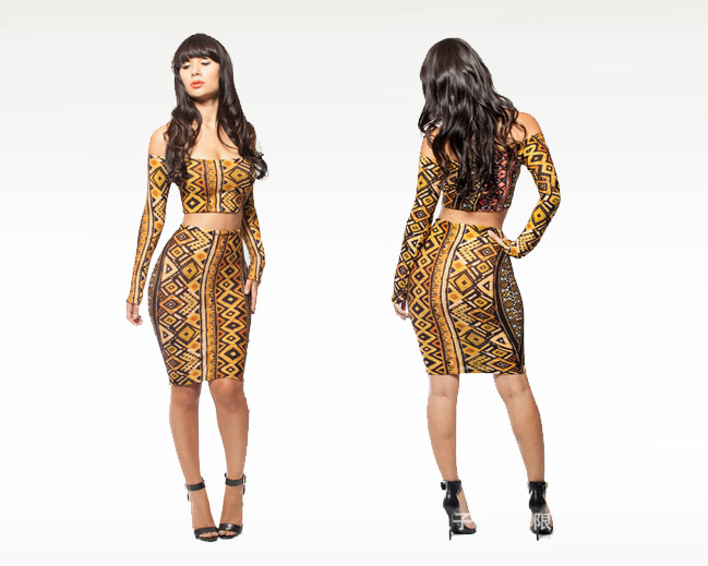 2014-sexy-two-piece-font-b-gold-b-font-print-font-b-dress-b-font-Sexy