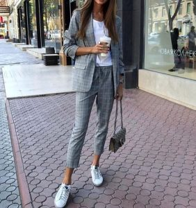 pantsuits with sneakers